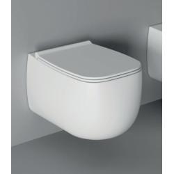 WC suspendu Nur 55x33,5cm avec abattant (14 couleurs) ref. 33120101