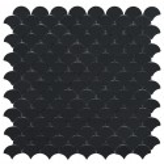 Mosaïque Soul écaille 3,6x2,9cm Black (noir) mat sur trame nylon 32,4x31,7cm réf 6105S