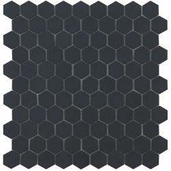 Mosaïque Nordic hexagone 3,5x3,5cm Black mat sur trame nylon 32,4x31,7cm
