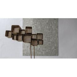 Mosaïque de verre Jointed Layout C sur trame nylon 30,8x30,8cm