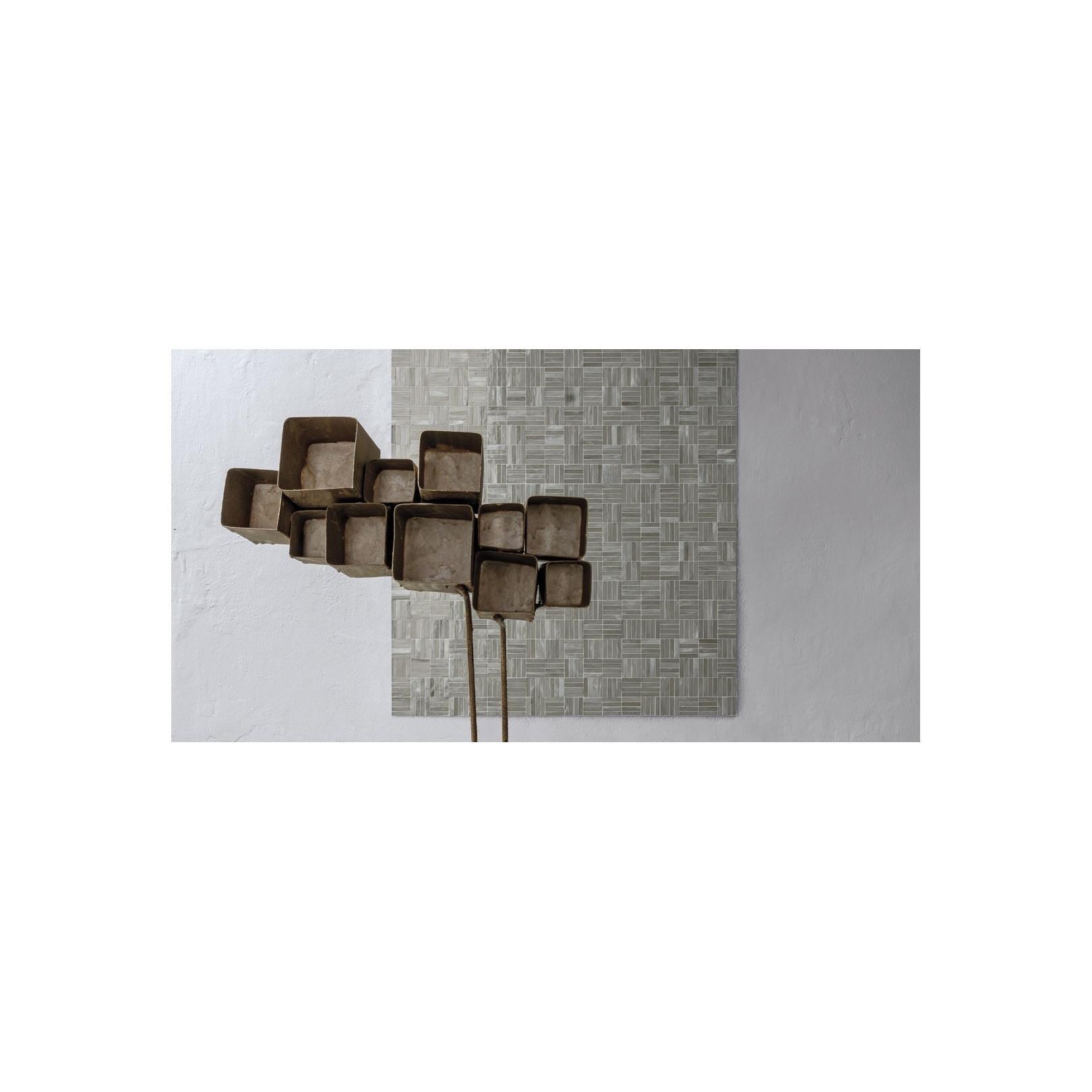 Mosaïque de verre Jointed Layout B sur trame nylon 30,8x30,8cm