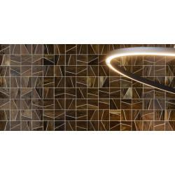 Mosaïque de verre Jointed Layout D sur trame nylon 30,8x30,8cm