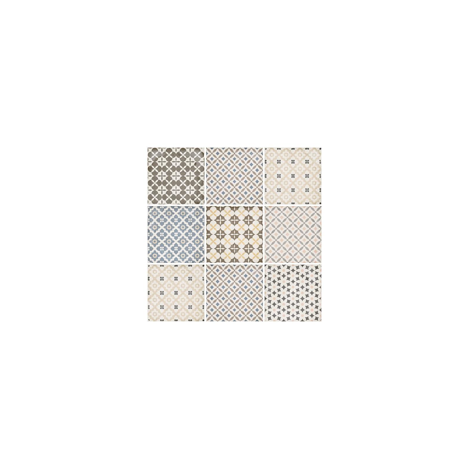 Carrelage Gres Cerame Effet Carreau Ciment Art Nouveau Colour Alameda 20x20cm Casalux Home Design