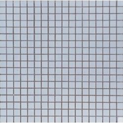 Mosaïque marbre Thassos White, 1,5x1,5cm sur trame 29,6x29,6cm