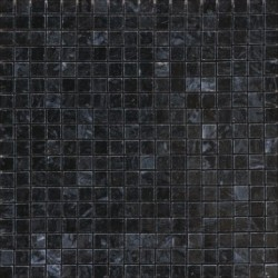 Mosaïque marbre Grey Black, 1,5x1,5cm sur trame 29,6x29,6cm