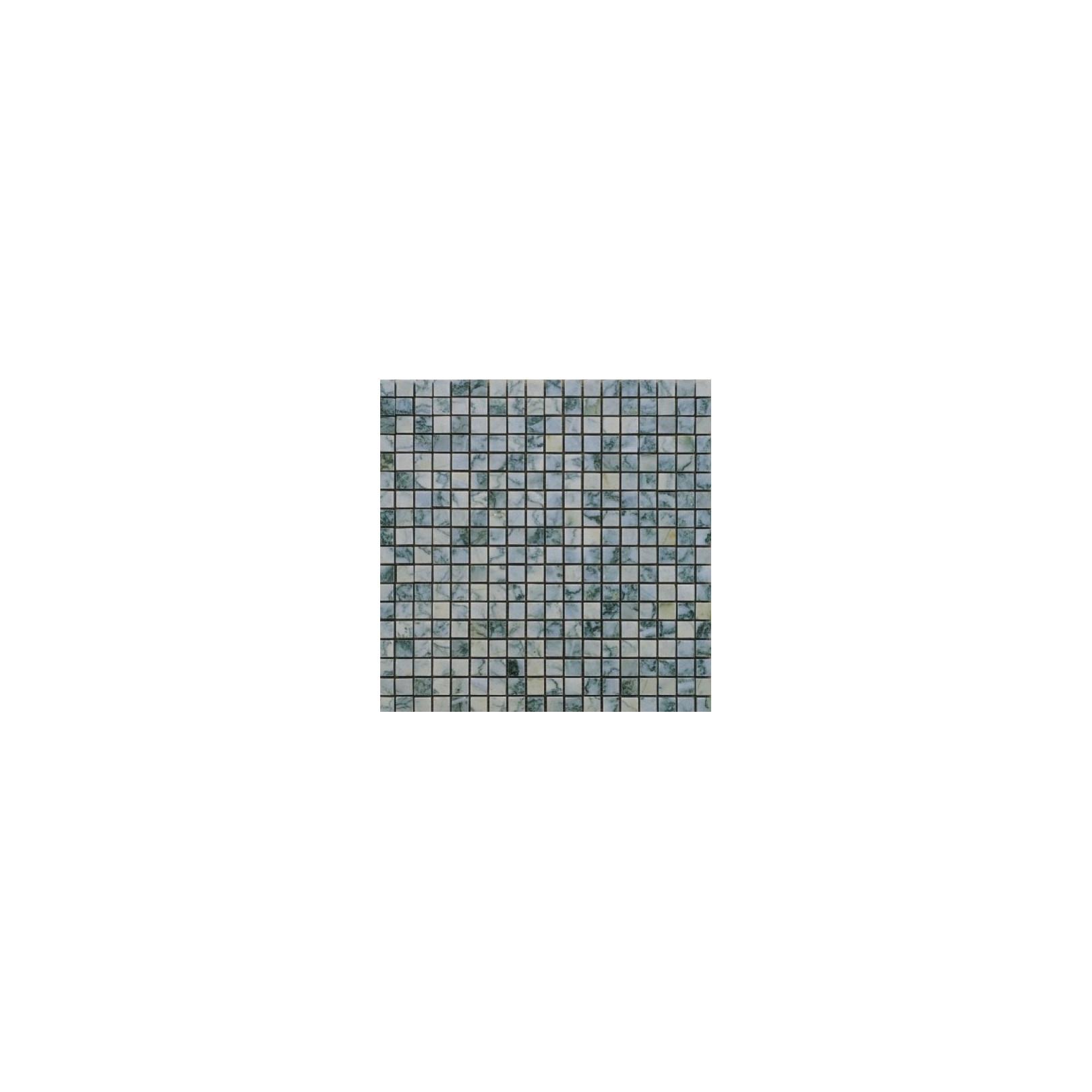 Mosaïque marbre Lotus Green, 1,5x1,5cm sur trame 29,6x29,6cm