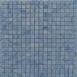 Mosaïque marbre Azul Macauba, 1,5x1,5cm sur trame 29,6x29,6cm