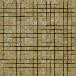 Mosaïque travertin Jaune, 1,5x1,5cm sur trame 29,6x29,6cm