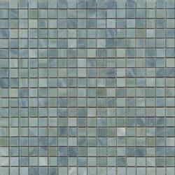 Mosaïque marbre Verde Luana, 1,5x1,5cm sur trame 29,6x29,6cm