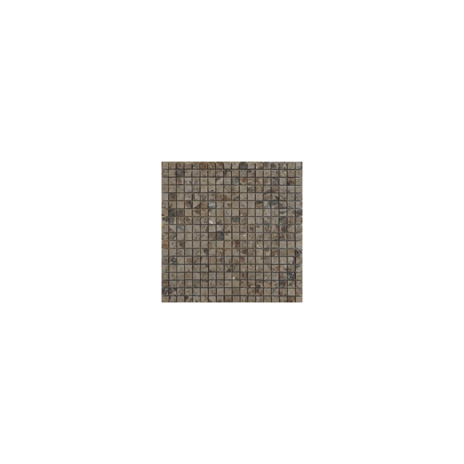 Mosaïque marbre Brescia Paradiso, 1,5x1,5cm sur trame 29,6x29,6cm