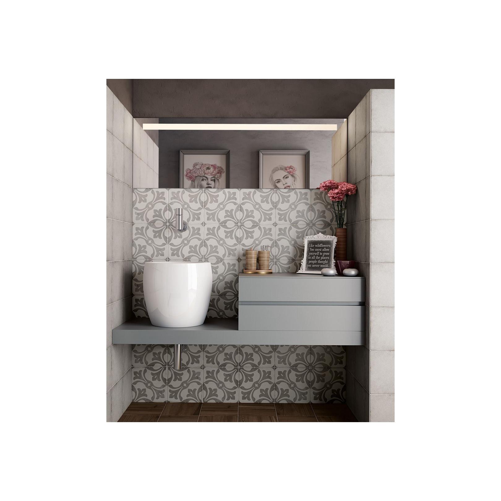 carrelage gres cerame effet carreau ciment art nouveau grey la rambla 20x20cm casalux home design
