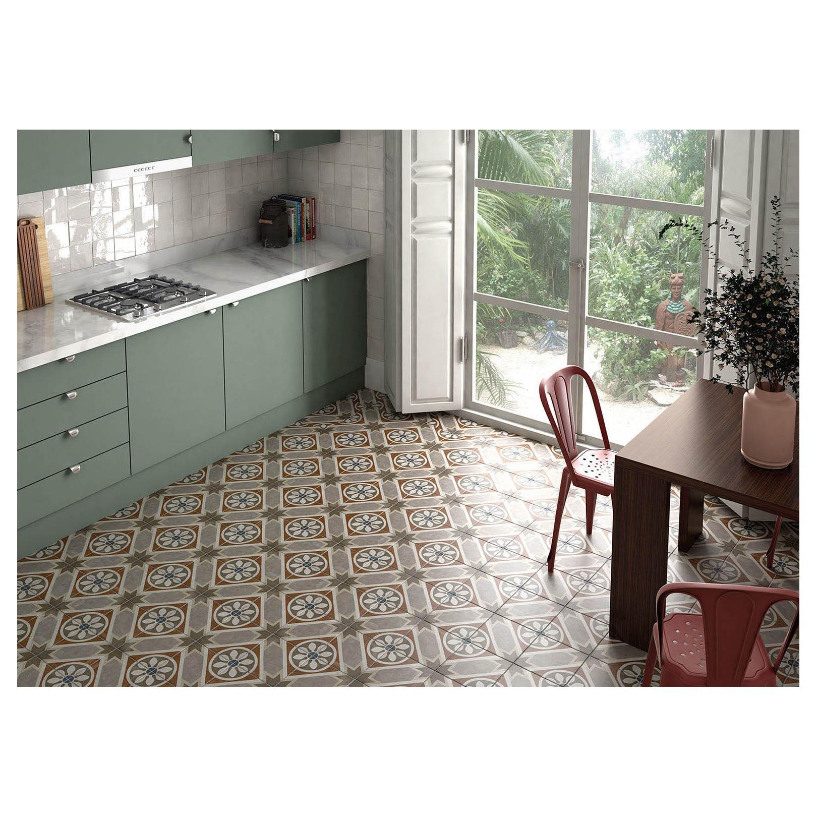 Carrelage grès cérame effet carreau ciment Art Nouveau Colour Apollo 20x20cm