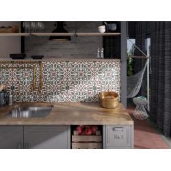 Carrelage grès cérame effet carreau ciment Art Nouveau Colour Folies Bergères 20x20cm