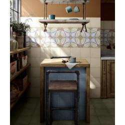 Carrelage grès cérame effet carreau ciment Art Nouveau Colour Viena 20x20cm