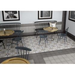 Carrelage grès cérame effet carreau ciment Art Nouveau Colour Music Hall 20x20cm