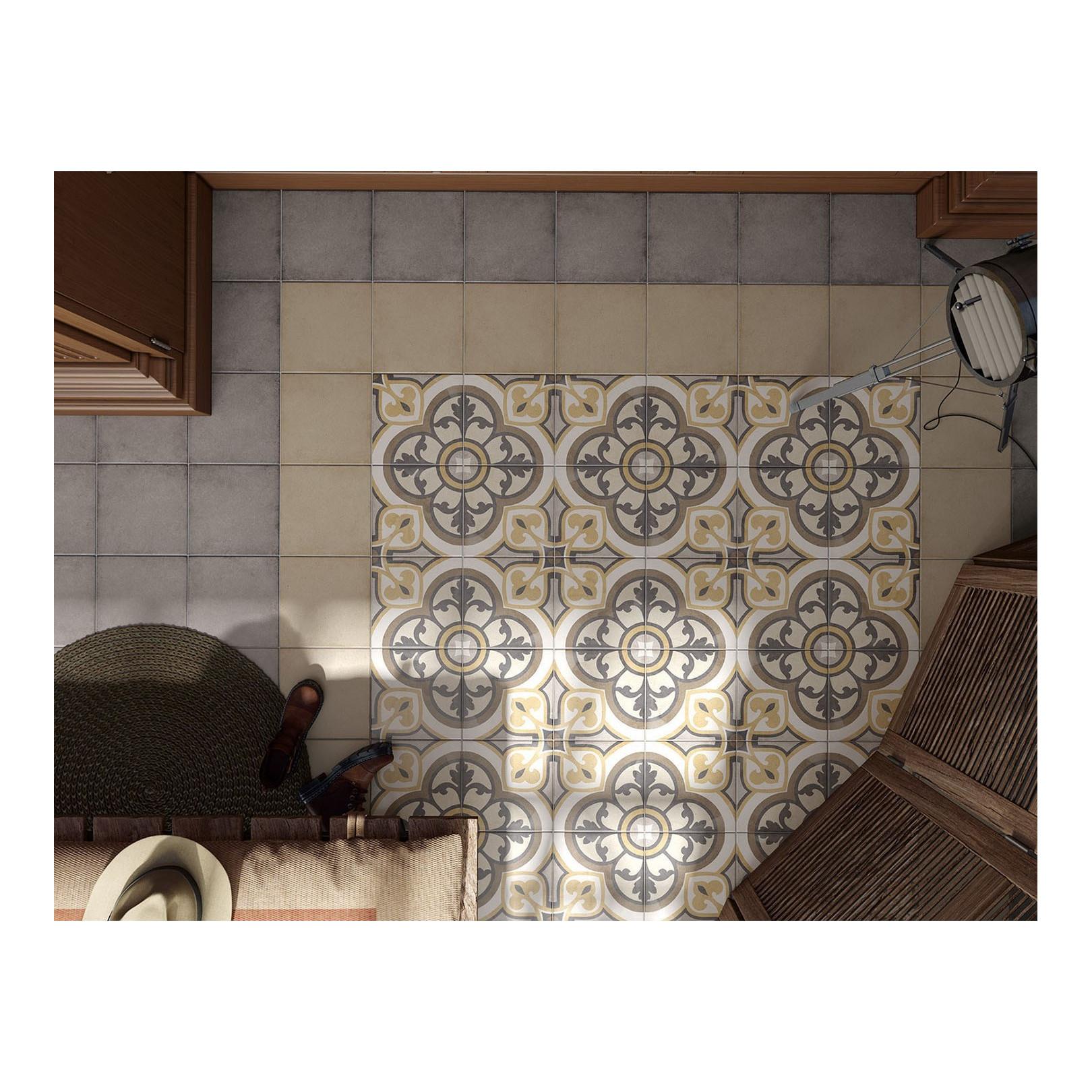 Carrelage grès cérame effet carreau ciment Art Nouveau Colour Majestic 20x20cm