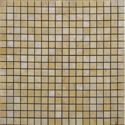 Mosaïque pierre Jerusalem Gold, 1,5x1,5cm sur trame 29,6x29,6cm