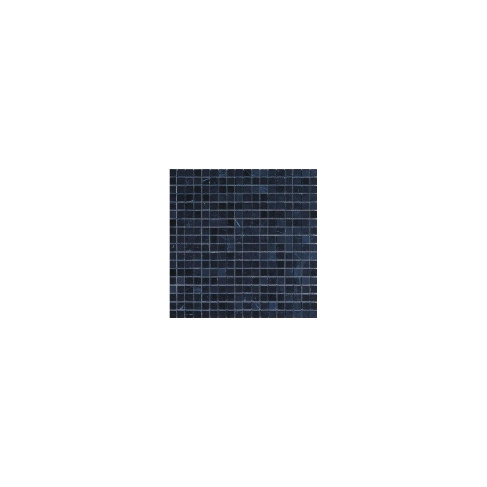 Mosaïque marbre Pure Black, 1,5x1,5cm sur trame 29,6x29,6cm