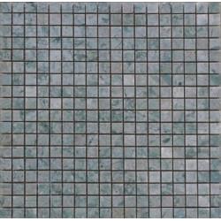 Mosaïque marbre Verde Rosa, 1,5x1,5cm sur trame 29,6x29,6cm