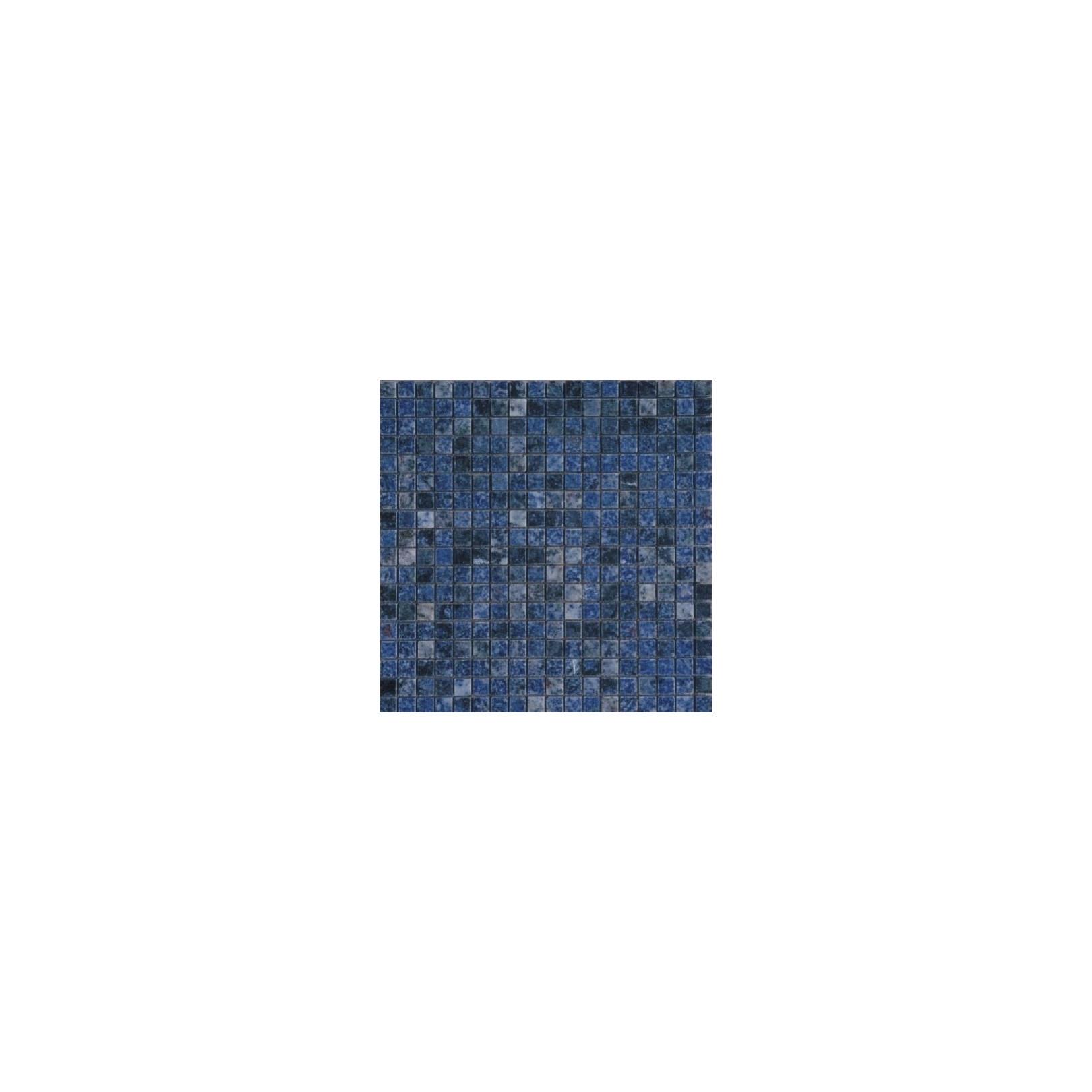 Mosaïque granit Azul Bahia, 1,5x1,5cm sur trame 29,6x29,6cm