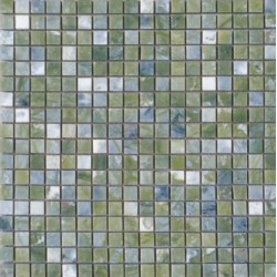 Mosaïque marbre Vege Green, 1,5x1,5cm sur trame 29,6x29,6cm
