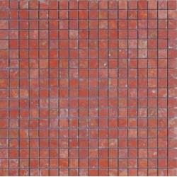 Mosaïque travertin Rouge, 1,5x1,5cm sur trame 29,6x29,6cm