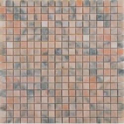 Mosaïque marbre Pinklux, 1,5x1,5cm sur trame 29,6x29,6cm
