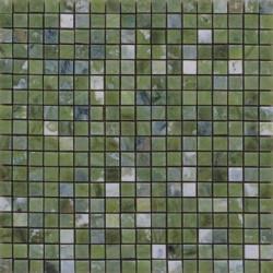 Mosaïque marbre Emerald Green, 1,5x1,5cm sur trame 29,6x29,6cm