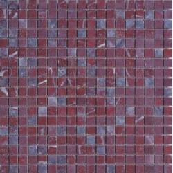 Mosaïque marbre Rosso Luana, 1,5x1,5cm sur trame 29,6x29,6cm