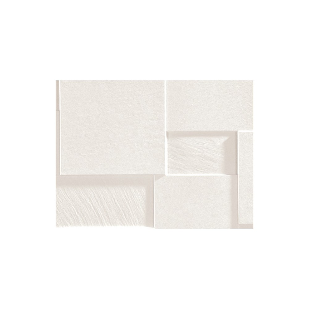 Carrelage gr s c rame effet relief blanc 80 4 1 couleur for Carrelage relief