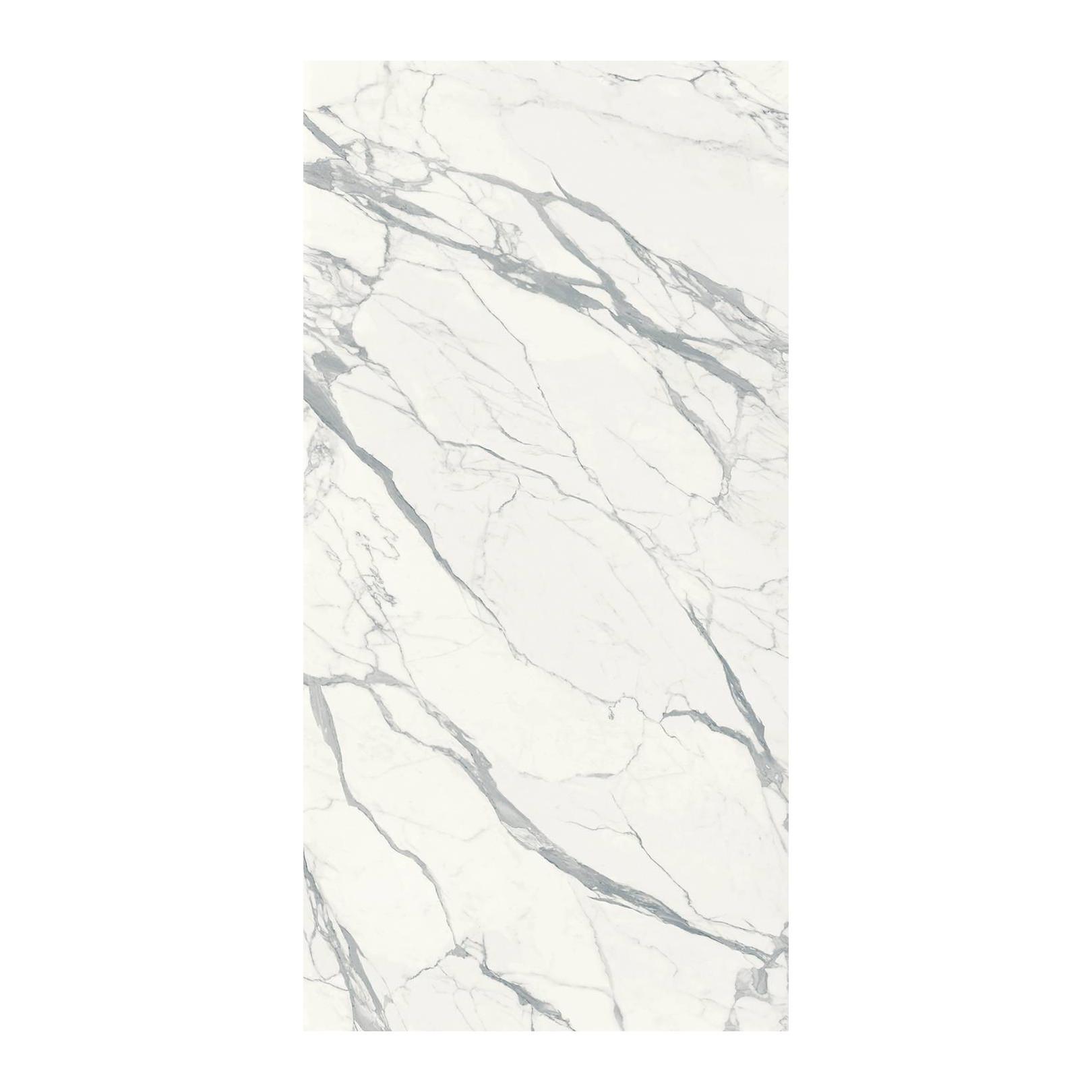 Carrelage grès cérame effet marbre Infinito 2.0 Statuario Extra (4 formats, 2 finitions)