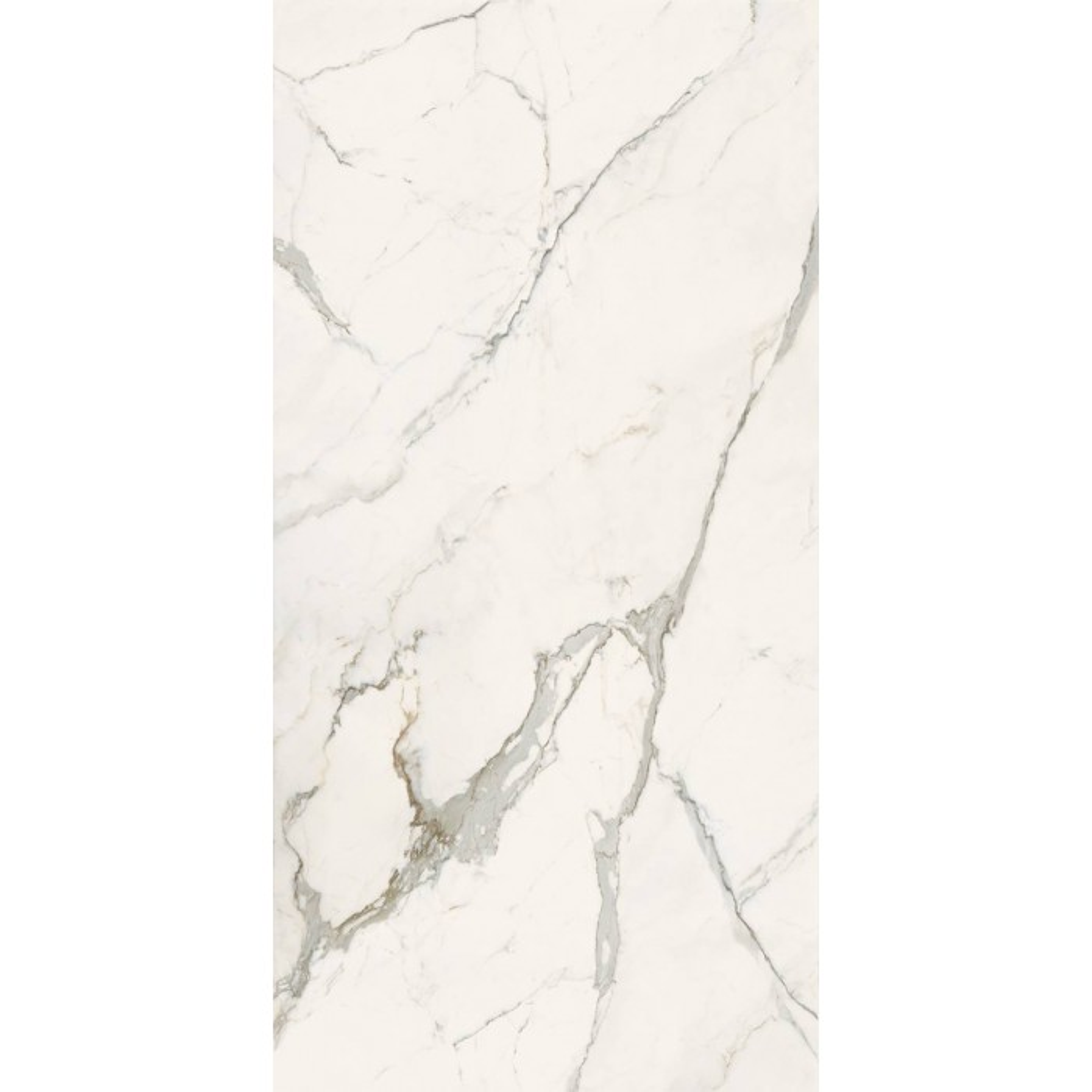 Carrelage grès cérame effet marbre Infinito 2.0 Calacatta Light (4formats, 2 finitions)
