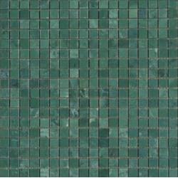 Mosaïque marbre Green Jade, 1,5x1,5cm sur trame 29,6x29,6cm