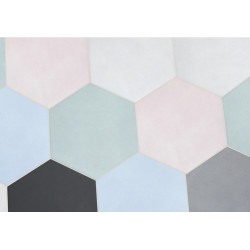 Carrelage grès cérame Oslo Hexagon, hexagone 20x17,3cm (6 couleurs)