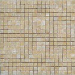 Mosaïque onyx Honey, 1,5x1,5cm sur trame 29,6x29,6cm