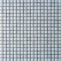 Mosaïque lave émaillée Bianco, 1,5x1,5cm sur trame 29,6x29,6cml