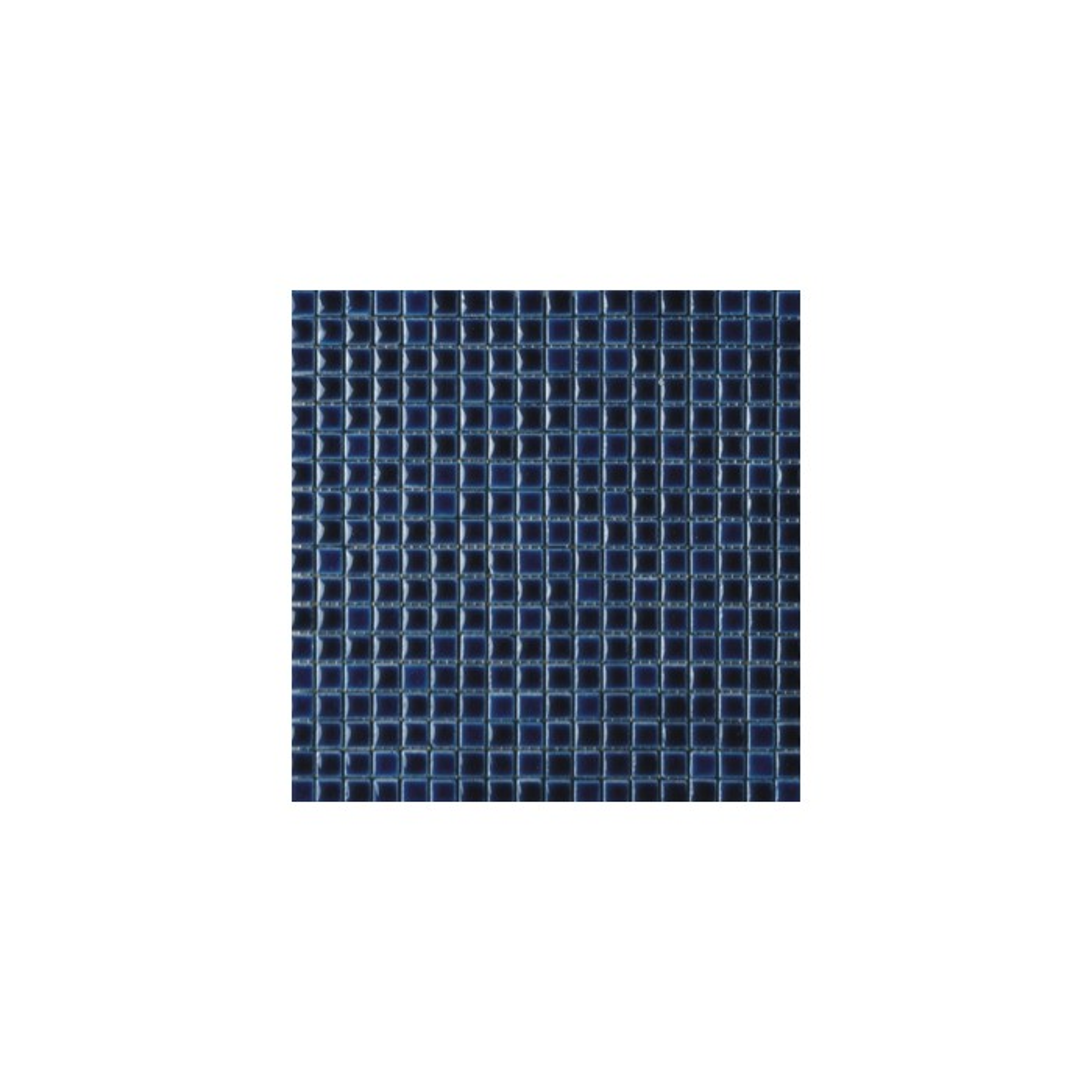 Mosaïque lave émaillée Azul Dark, 1,5x1,5cm sur trame 29,6x29,6cml