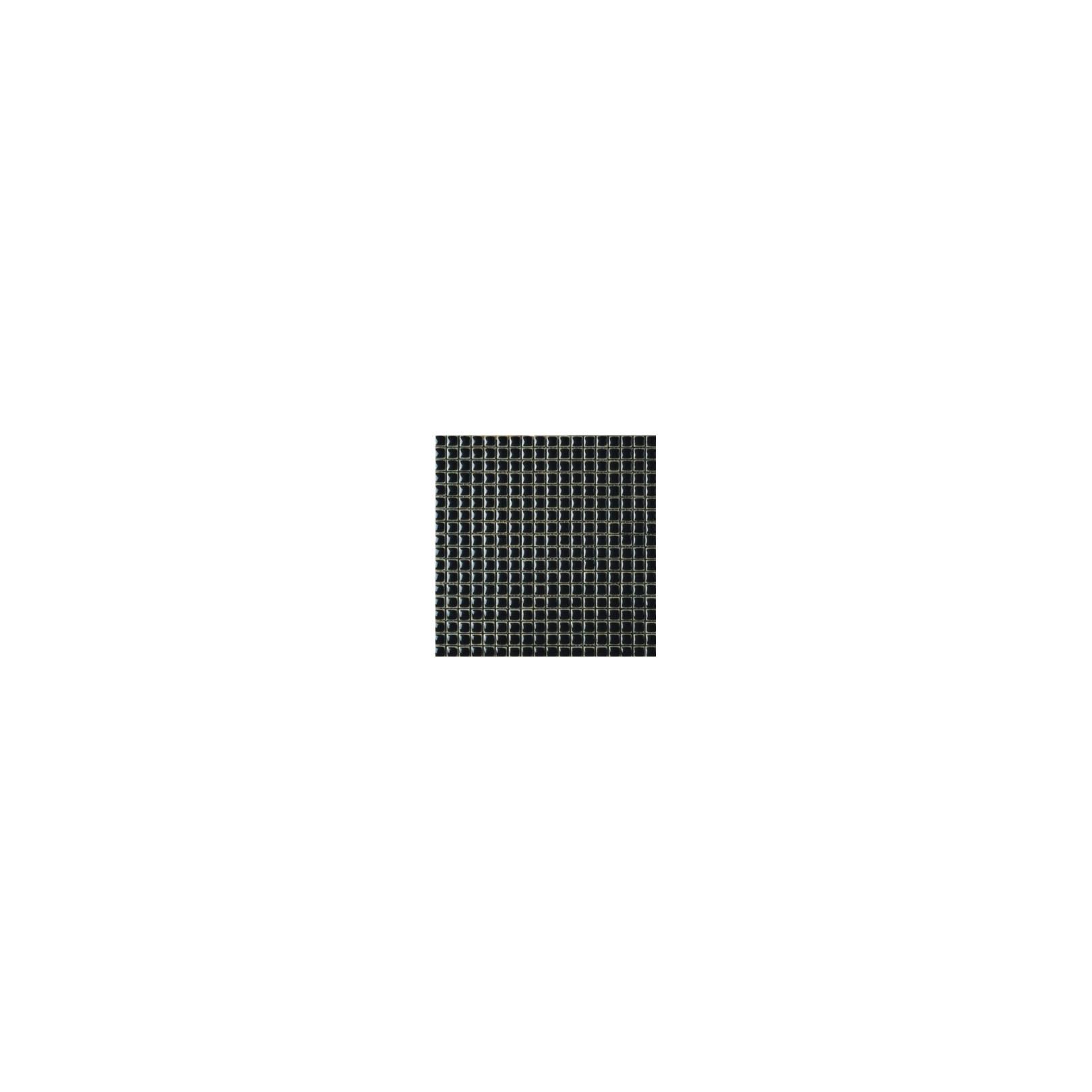 Mosaïque lave émaillée Nero, 1,5x1,5cm sur trame 29,6x29,6cm