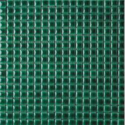 Mosaïque lave émaillée Verde, 1,5x1,5cm sur trame 29,6x29,6cm