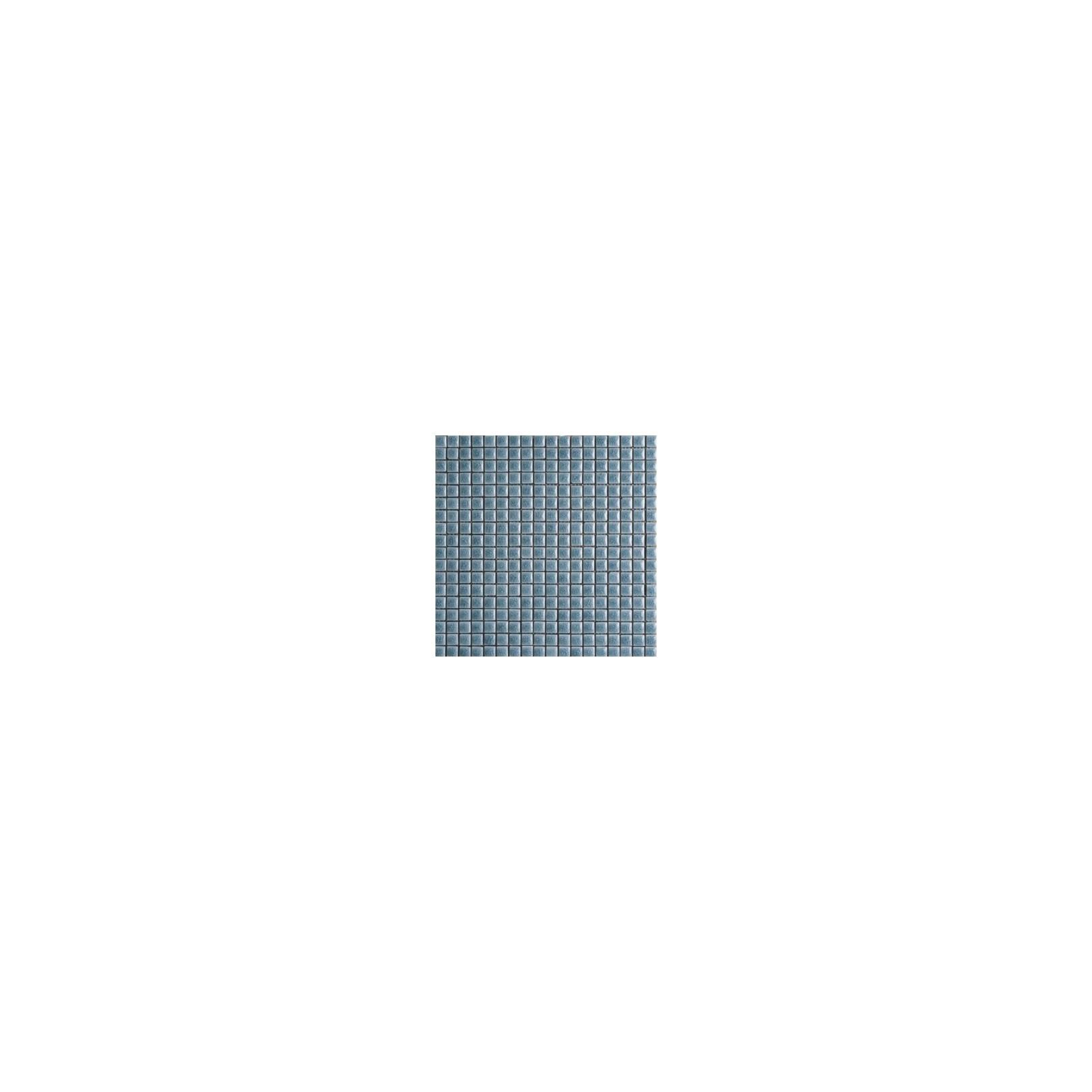 Mosaïque lave émaillée Grey, 1,5x1,5cm sur trame 29,6x29,6cm