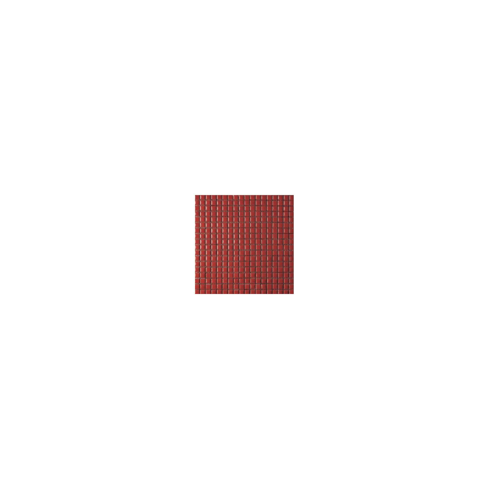 Mosaïque lave émaillée Rosso, 1,5x1,5cm sur trame 29,6x29,6cm