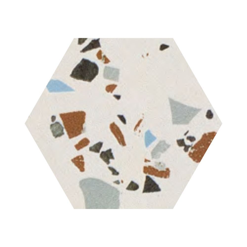 Carrelage grès cérame effet terrazzo Hexagone District South (4 couleurs)