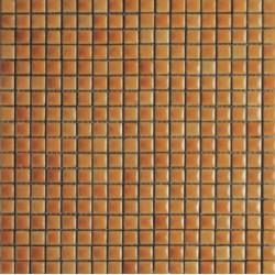 Mosaïque lave émaillée Giallo Midi, 1,5x1,5cm sur trame 29,6x29,6cm