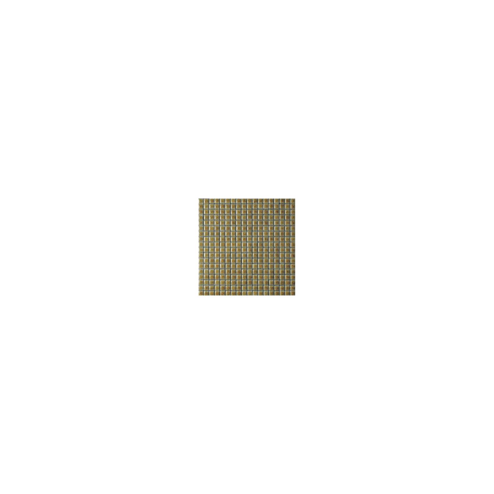 Mosaïque lave émaillée Golden, 1,5x1,5cm sur trame 29,6x29,6cm