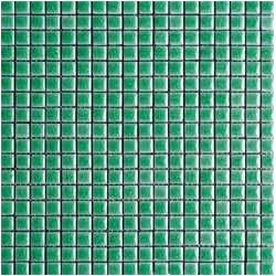 Mosaïque lave émaillée Verde Midi, 1,5x1,5cm sur trame 29,6x29,6cm
