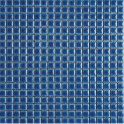 Mosaïque lave émaillée Azul Sea, 1,5x1,5cm sur trame 29,6x29,6cm