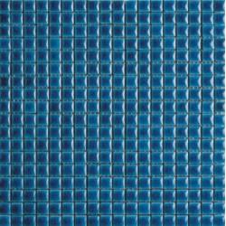 Mosaïque lave émaillée Azul Jade, 1,5x1,5cm sur trame 29,6x29,6cm