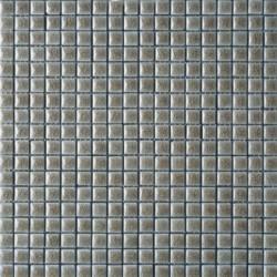 Mosaïque lave émaillée Dark Tea, 1,5x1,5cm sur trame 29,6x29,6cm