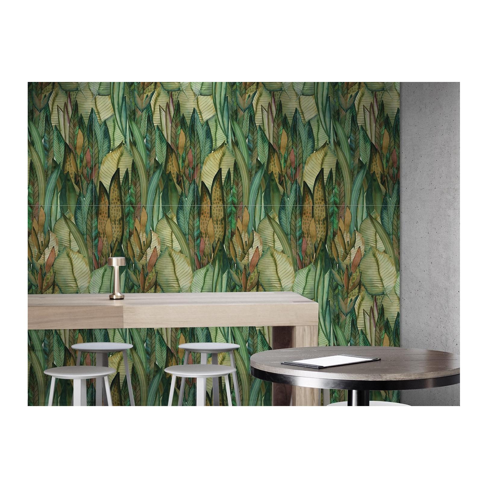 Carrelage grès cérame effet papier peint Scenari Tropical Paint