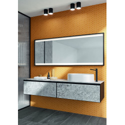 Carrelage grès cérame Hexa mosaïque 4,3x3,8cm (10 couleur, mat ou décor) épaisseur 0,45cm